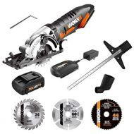 [아마존베스트]WORX WX523L.2 20V 1.5Ah Cordless Lithium Worxsaw with 1 TCT Blade, 1 Diamond Blade, 1 HSS Blade Battery and Charger Included