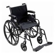 Walgreens Drive Medical Cruiser III Lightweight Wheelchair w Flip Back Removable Full Arms and Foot Rest 18 Inch