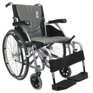 Walgreens Karman 18in Seat Ultra Lightweight Ergonomic Wheelchair Silver