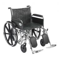 Walgreens Drive Medical Sentra EC Heavy Duty Wheelchair with Detachable Full Arms and Elevating Leg Rest 22 Inch Seat Black
