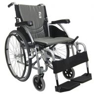 Walgreens Karman 16in Seat Ultra Lightweight Ergonomic Wheelchair Silver