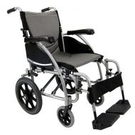 Walgreens Karman 18in Seat Ergonomic Transport Wheelchair Silver