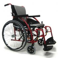 Walgreens Karman 20in Seat Ultra Lightweight Ergonomic Wheelchair Red