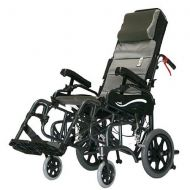 Walgreens Karman 18 inch Tilt in Space Reclining Aluminum Transport Wheelchair, 34 lbs. Black