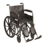 Walgreens Drive Medical Silver Sport 2 Wheelchair Black