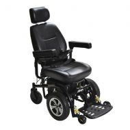 Walgreens Drive Medical Trident Front Wheel Drive Power Chair 20 Inch Seat Black