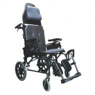 Walgreens Karman Reclining 18 inch Aluminum Transport Wheelchair, 33lbs Black