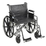 Walgreens Drive Medical Sentra EC Heavy Duty Wheelchair with Detachable Desk Arms and SwingAway Footrest 22 Seat Black