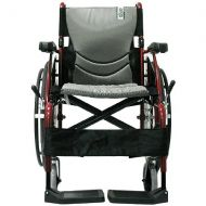 Walgreens Karman 18 inch Aluminum Wheelchair with Swing Away Footrests, 25 lbs. Red