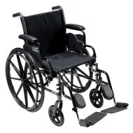 Walgreens Drive Medical Cruiser III Lightweight Wheelchair w Flip Back Removable Desk Arms and Leg Rest 16 Inch