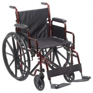 Walgreens Drive Medical Rebel Lightweight Wheelchair 18 Inch Red