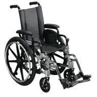 Walgreens Drive Medical Viper Wheelchair with Flip Back Removable Desk Arms and Swing Away Footrest 14 Inch