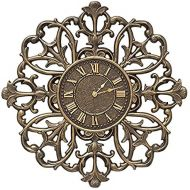 Whitehall Filigree Silhouette 21-in Indoor Outdoor Wall Clock - 01126 Aged Bronze (French Bronze)