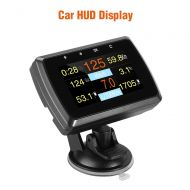 WonVon HUD Head Up Display,A501 Car OBD2 Gauge with Holder Driving Speed Meter Fuel Water Temperature Digital Display