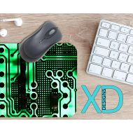 XDDesigns Computer Mouse Pad, Computer Mousepad, Motherboard Rectangle Mouse Pad, Green, Motherboard Circle Mouse Pad, Computer Mat, Computer, Chip