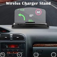 YICHUMY Mulfunction Car Phone Holder Hud Display Projector with Wireless Charger Phone Stand Compatible with Most Phones GPS HUD Head Up Display Holder Reflector Display GPS Hud Ca