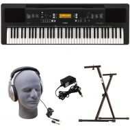 Yamaha PSR-EW300 PKY Premium Keyboard Pack with Power Supply, Bolt-On Stand, and Headphones