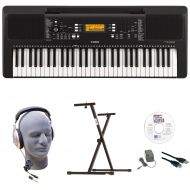 Yamaha PSR-E363 EPY 61-Key Keyboard Pack with Headphones, Power Supply, Secure Bolt-On Stand, eMedia Instructional Software, & USB Cable